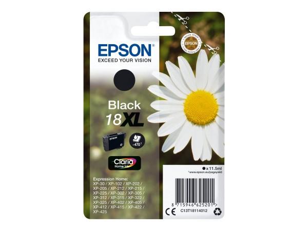 Epson Tinte C13T18114012 18XL Schwarz 470 Seiten 11,5 ml Große Füllmenge 1 Stück