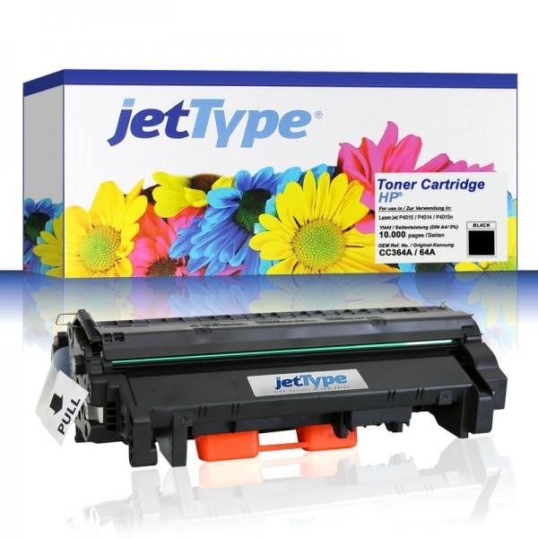 jetType Toner kompatibel zu HP CC364A 64A schwarz 10.000 Seiten 1 Stück