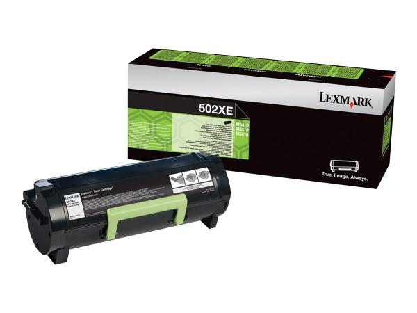 Lexmark Toner 50F2X0E 502X Schwarz 10.000 Seiten Projektkartusche Große Füllmenge 1 Stück