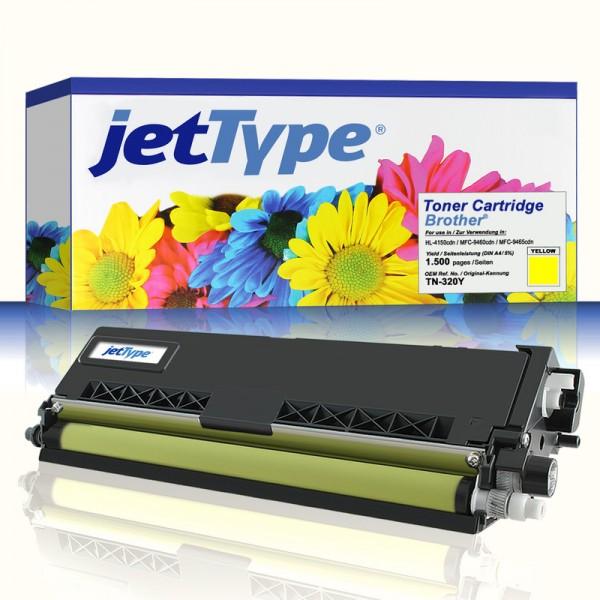 jetType Toner kompatibel zu Brother TN-320Y gelb 1.500 Seiten 1 Stück