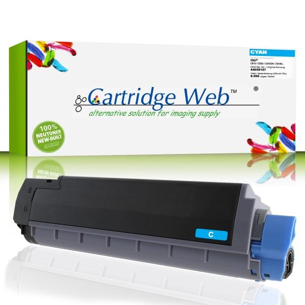 CartridgeWeb Toner kompatibel zu Oki 44059107 cyan 8.000 Seiten