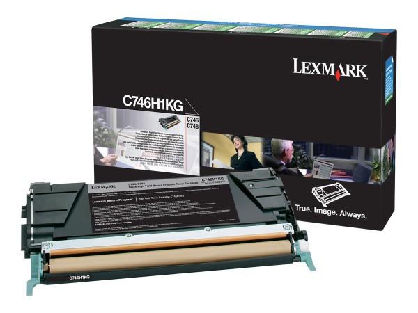 Lexmark Toner C746H1KG schwarz 12.000 Seiten return program 1 Stück
