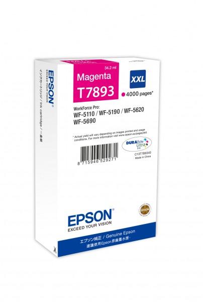 Epson Tinte C13T789340 T7893 magenta 4.000 Seiten 34,2 ml Große Füllmenge 1 Stück