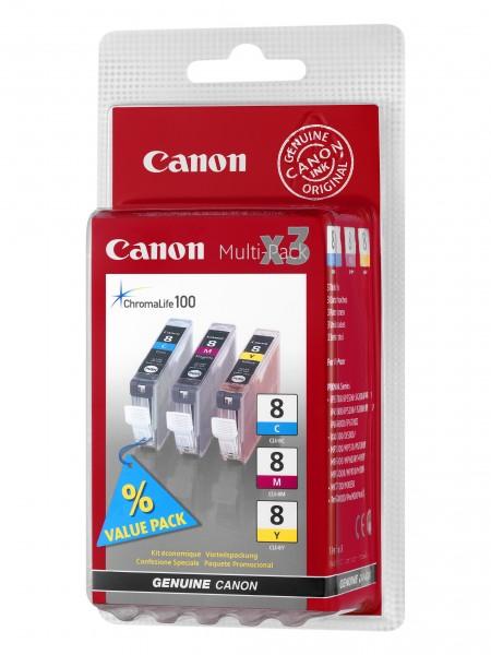 Canon Tinte Multipack 0621B029 CLI-8 C/M/Y 3x 13 ml 3 Stück