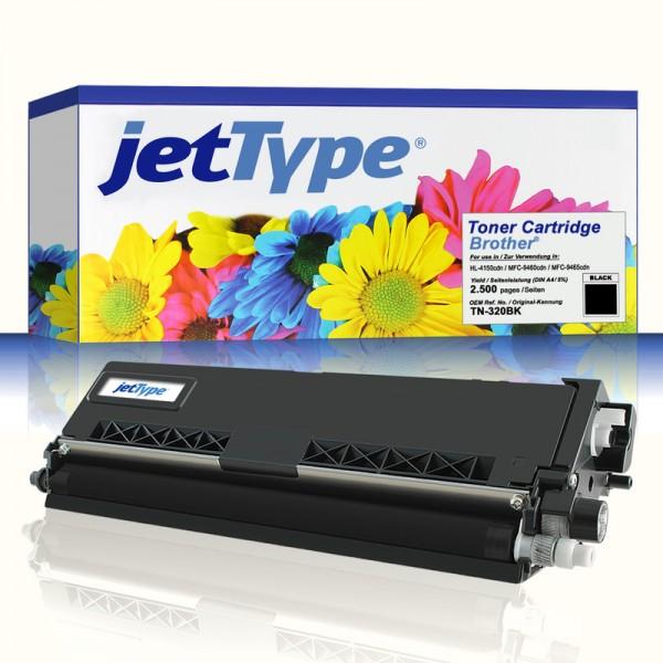 jetType Toner kompatibel zu Brother TN-320BK schwarz 2.500 Seiten 1 Stück