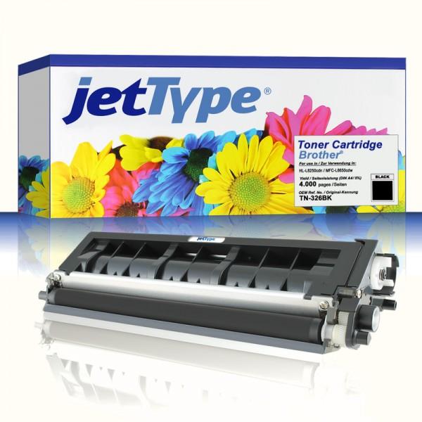 jetType Toner kompatibel zu Brother TN-326BK schwarz 4.000 Seiten