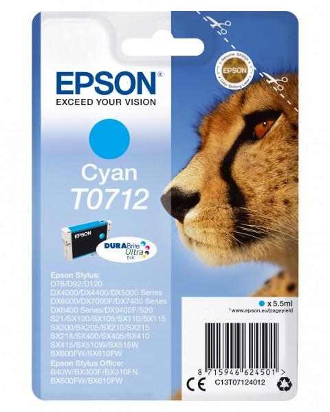 Epson Tinte C13T07124012 T0712 Cyan 485 Seiten 5,5 ml