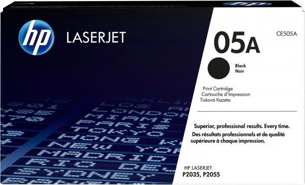 HP Toner CE505A 05A schwarz 2.300 Seiten 1 Stück