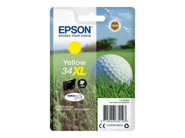 Epson Tinte C13T34744010 34XL Gelb 950 Seiten 10,8 ml 1 Stück