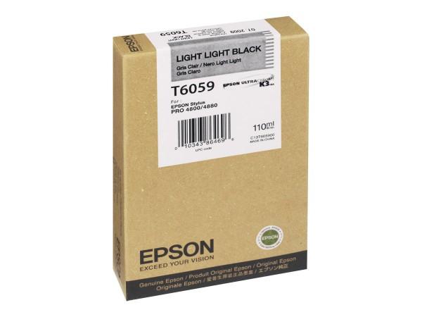Epson Tinte C13T605900 T6059 Hell Hell Schwarz 110 ml 1 Stück