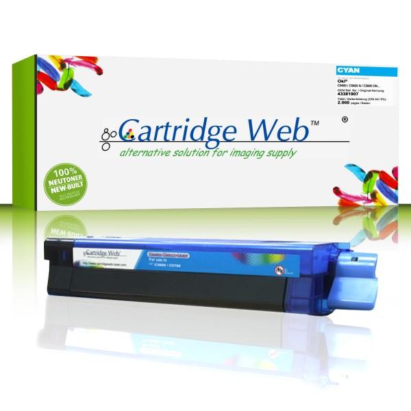 CartridgeWeb Toner kompatibel zu Oki 43381907 cyan 2.000 Seiten