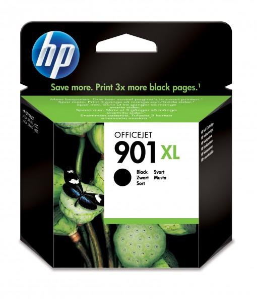 HP Tinte CC654AE 901XL schwarz 700 Seiten 14 ml Große Füllmenge 1 Stück