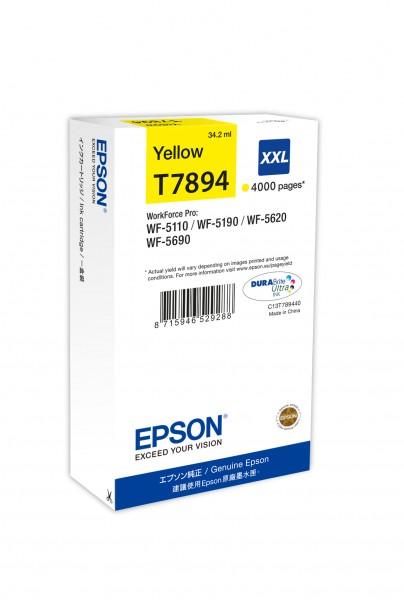 Epson Tinte C13T789440 T7894 gelb 4.000 Seiten 34,2 ml Große Füllmenge 1 Stück