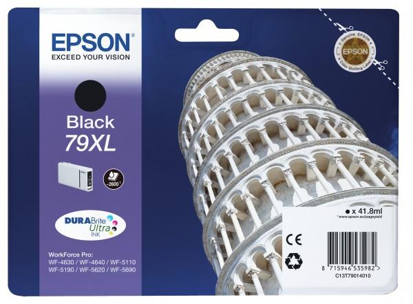 Epson Tinte C13T79014010 79XL Schwarz 2.600 Seiten 41,8 ml DURABrite Ultra Große Füllmenge 1 Stüc