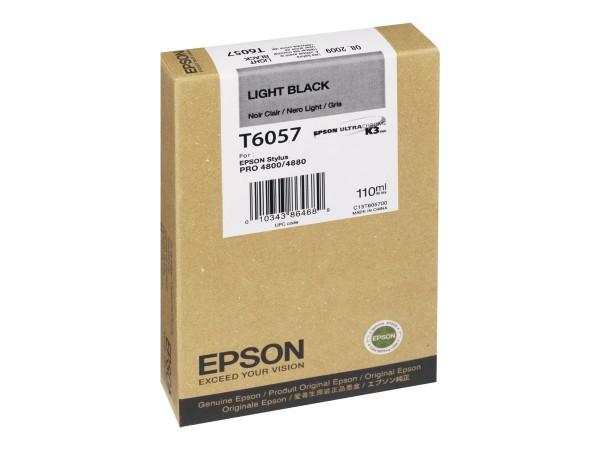 Epson Tinte C13T605700 T6057 Hell Schwarz 110 ml 1 Stück