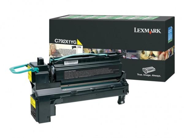 Lexmark Toner C792X1YG gelb 20.000 Seiten Große Füllmenge 1 Stück