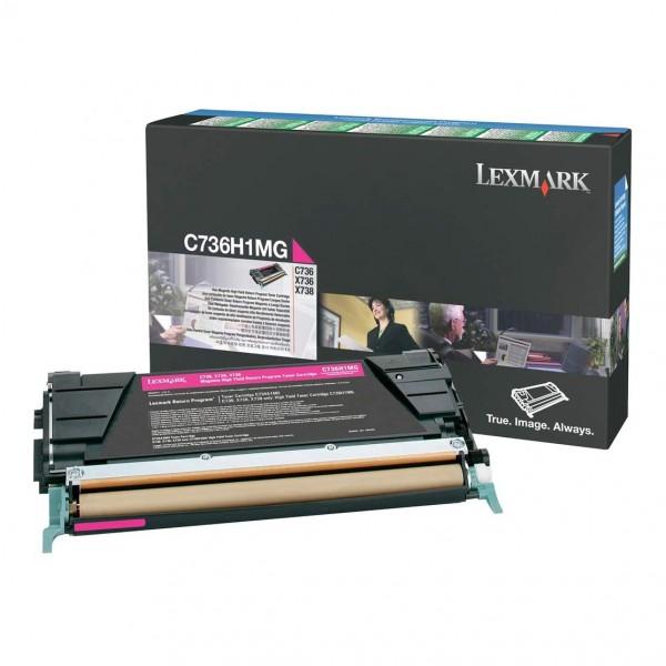 Lexmark Toner C736H1MG magenta 10.000 Seiten 1 Stück