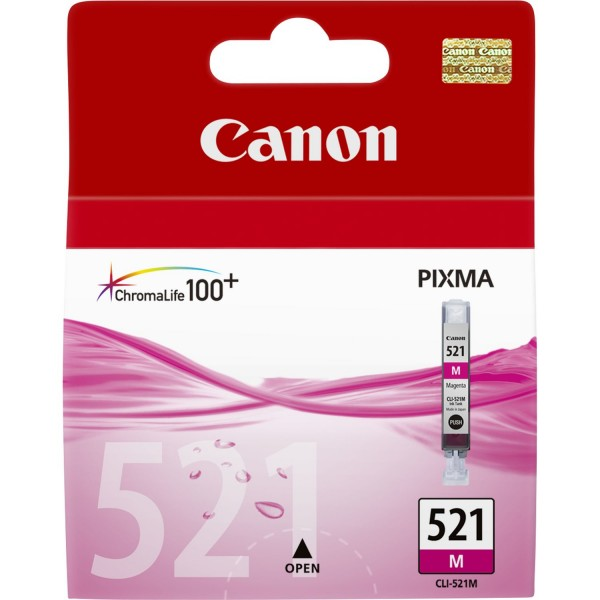 Canon Tinte 2935B001 CLI-521 M Magenta 445 Seiten 9 ml 1 Stück