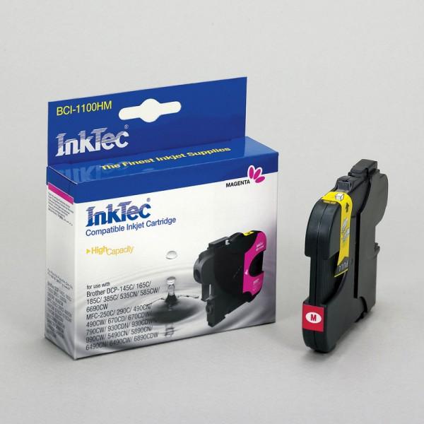 InkTec Tinte kompatibel zu Brother LC1100M magenta 325 Seiten