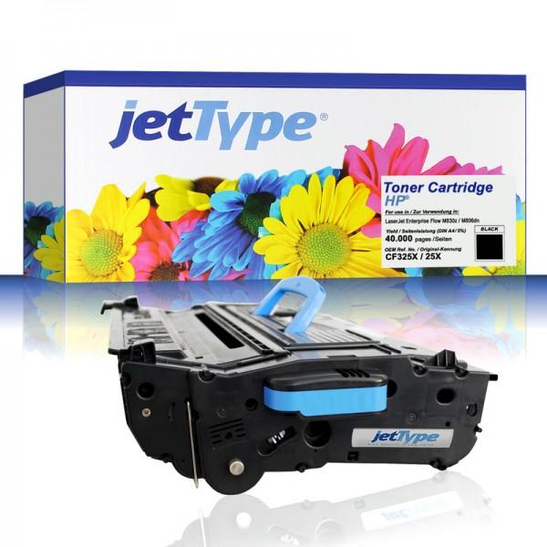 jetType Toner kompatibel zu HP CF325X 25X schwarz 40.000 Seiten Große Füllmenge 1 Stück