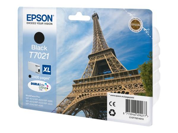 Epson Tinte C13T70214010 T7021 schwarz 2.400 Seiten 45,2 ml Größe XL Große Füllmenge 1 Stück