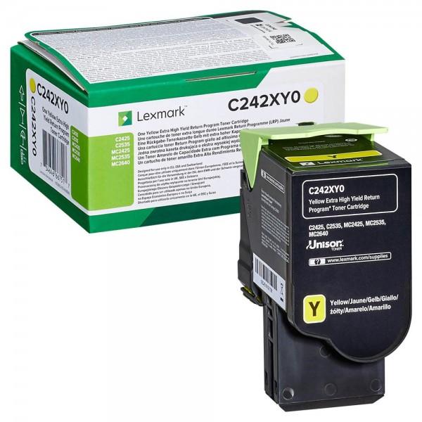 Lexmark Toner C242XY0 Gelb 3.500 Seiten 1 Stück