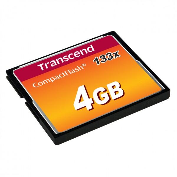 Transcend Speichermodule Compact Flash TS4GCF133 Kapazität: 4096 MB/ Kartenform