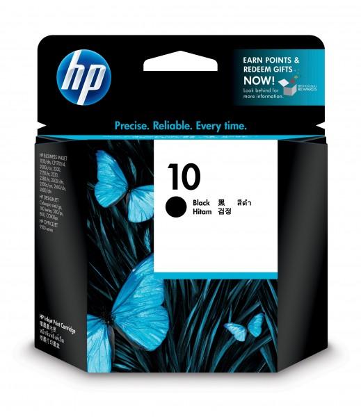 HP Tinte C4844A 10 schwarz 2.200 Seiten 69 ml Große Füllmenge 1 Stück