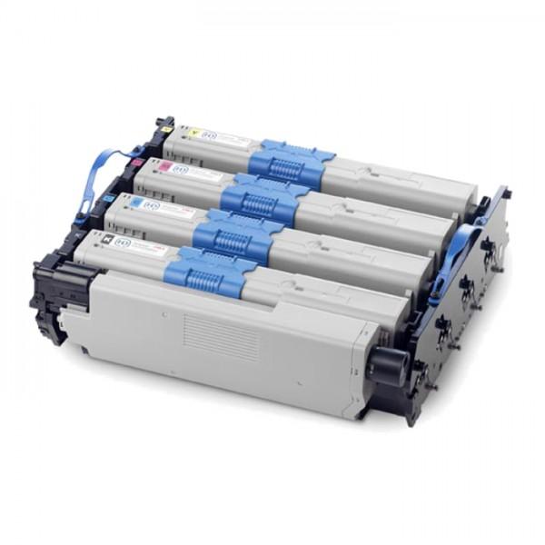 Oki Trommel-Kit 44968301 BK/C/M/Y 20.000 Seiten 4 Stück
