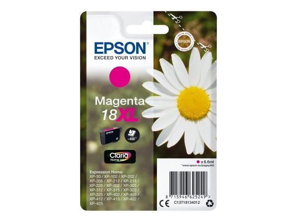 Epson Tinte C13T18134012 18XL Magenta 450 Seiten 6,6 ml Große Füllmenge 1 Stück