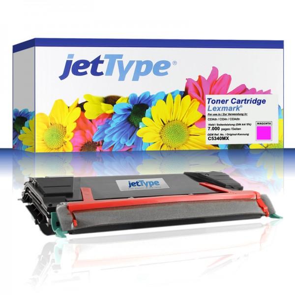 jetType Toner kompatibel zu Lexmark C5340MX magenta 7.000 Seiten 1 Stück