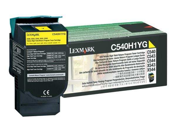 Lexmark Toner C540H1YG gelb 2.000 Seiten Prebate 1 Stück