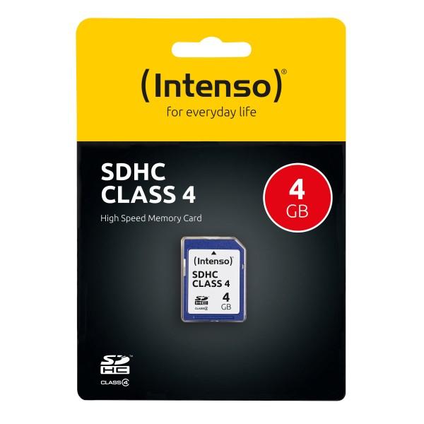Intenso SD (Secure Digital) 4GB 3401450 SDHC Flash-Speicherkarte