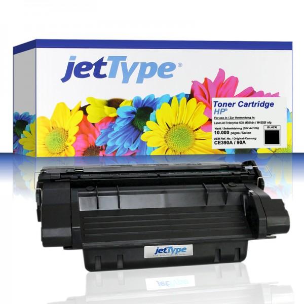 jetType Toner kompatibel zu HP CE390A 90A schwarz 10.000 Seiten 1 Stück