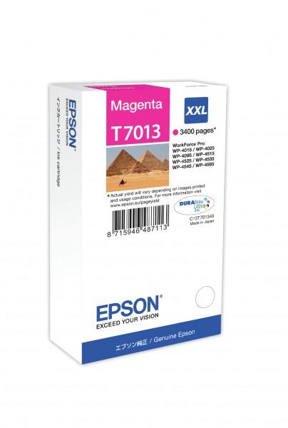 Epson Tinte C13T70134010 T7013 magenta 3.400 Seiten 34,2 ml Größe XXL Große Füllmenge 1 Stück