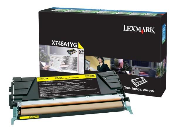 Lexmark Toner X746A1YG gelb 7.000 Seiten 1 Stück