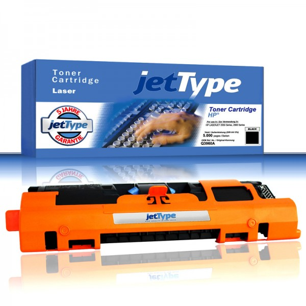jetType Toner kompatibel zu HP Q3960A 122A schwarz 5.000 Seiten 1 Stück