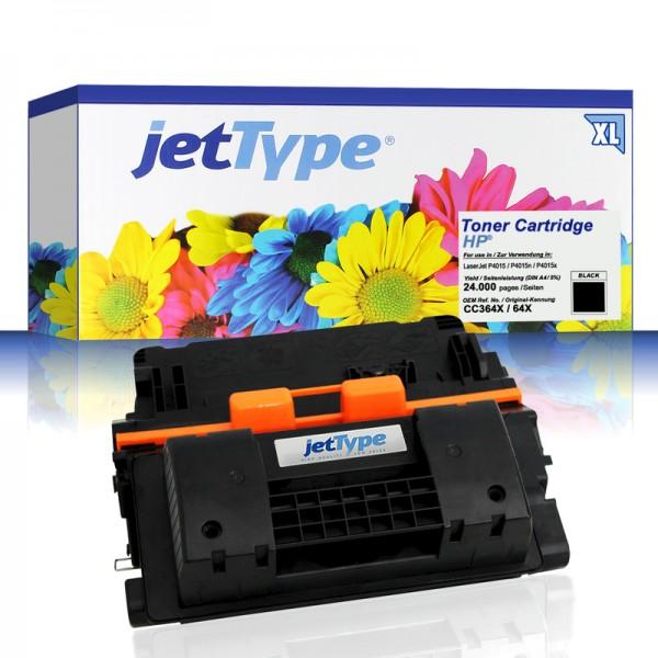 jetType Toner kompatibel zu HP CC364X 64X schwarz 24.000 Seiten Große Füllmenge 1 Stück