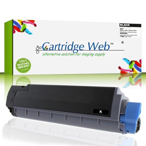 CartridgeWeb Toner kompatibel zu Oki 44643004 schwarz 7.000 Seiten