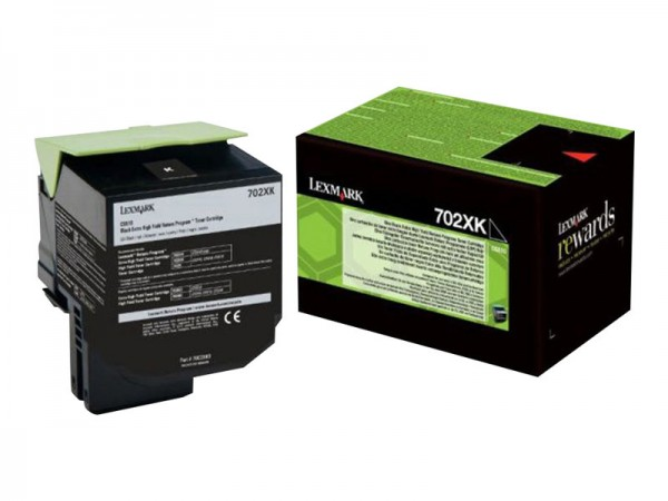 Lexmark Toner 70C2XK0 702XK Schwarz 8.000 Seiten 1 Stück