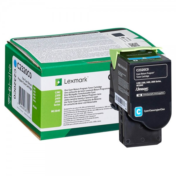 Lexmark Toner C2320C0 Cyan 1.000 Seiten 1 Stück