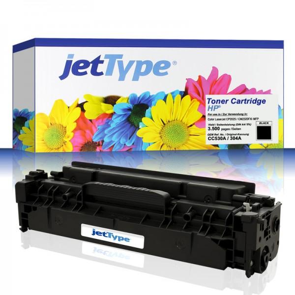 jetType Toner kompatibel zu HP CC530A 304A schwarz 3.500 Seiten 1 Stück