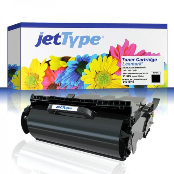 jetType Toner kompatibel zu Lexmark 64016HE schwarz 21.000 Seiten 1 Stück