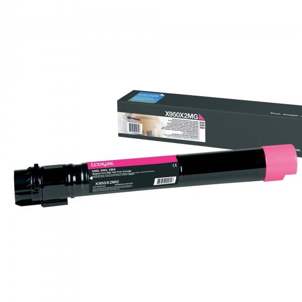 Lexmark Toner X950X2MG magenta 24.000 Seiten Große Füllmenge 1 Stück
