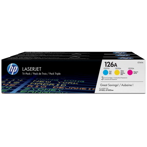 HP Toner Multipack CF341A 126A C/M/Y 3x 1.000 Seiten 3 Stück