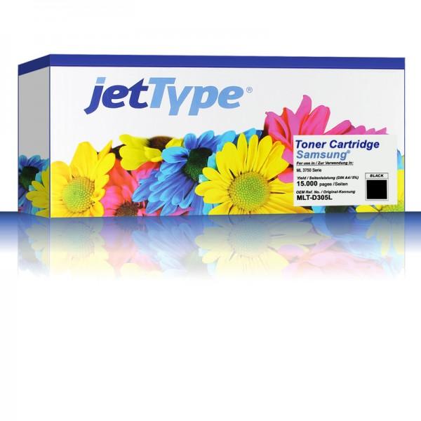 jetType Toner kompatibel zu Samsung MLT-D305L/ELS schwarz 15.000 Seiten