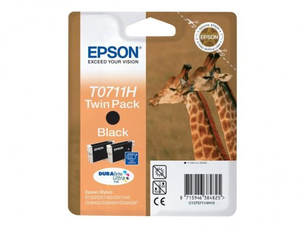 Epson Tinte Doppelpack C13T07114H10 T0711H schwarz 2x 11,1 ml 2 Stück