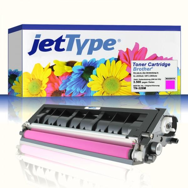 jetType Toner kompatibel zu Brother TN-326M magenta 3.500 Seiten