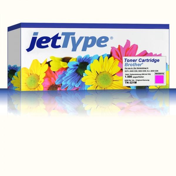 jetType Toner kompatibel zu Brother TN-321M magenta 1.500 Seiten