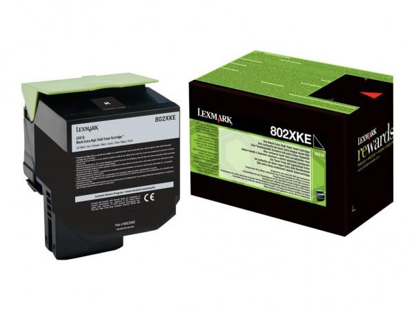 Lexmark Toner 80C2XKE 802XK schwarz 8.000 Seiten 1 Stück